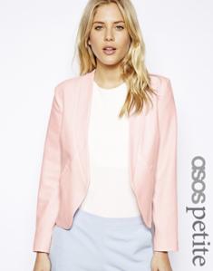 asos clean pink blazer